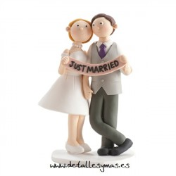 Figura de tarta Just married