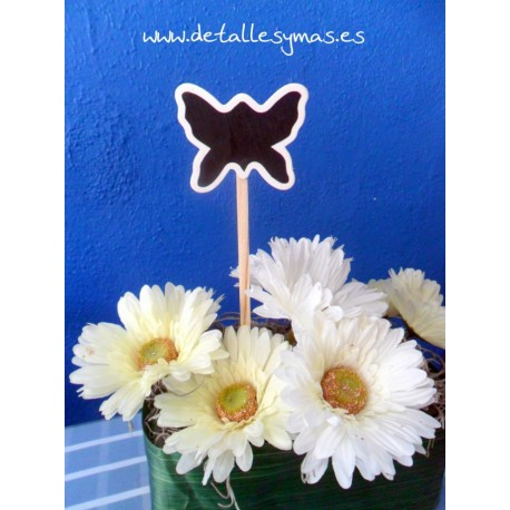 Pizarra Mariposa con pincho