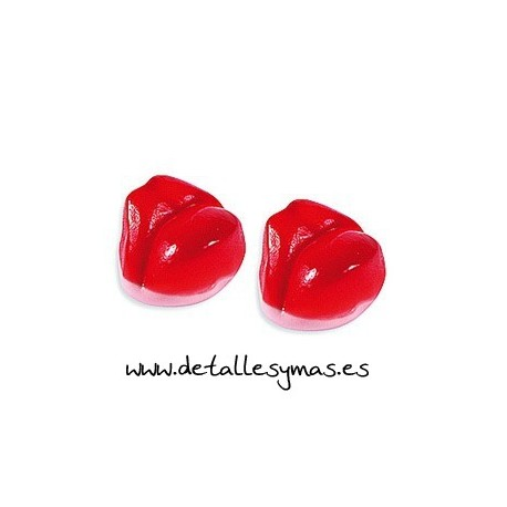 Labios rojos de gominola