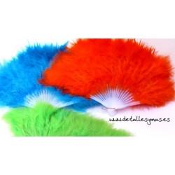 Abanicos de plumas