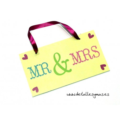 Cartel Mr and Mrs