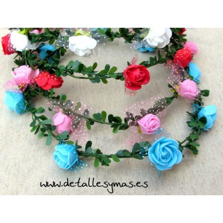 Corona de flores Folk
