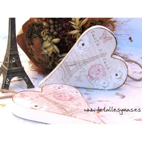 Corazón de madera Carte Postale