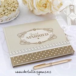 Libro de firmas Love chic Oro