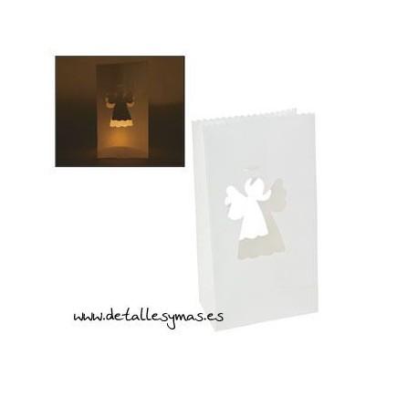 Bolsas luminarias con forma de Ángel