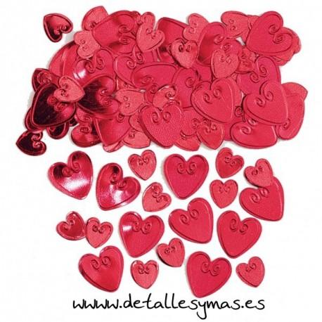Confetti metálico corazón