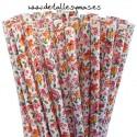 Pajitas de papel Flores