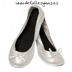 Bailarinas enrrollables Crema