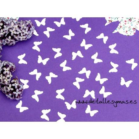 Confetti mariposas plata