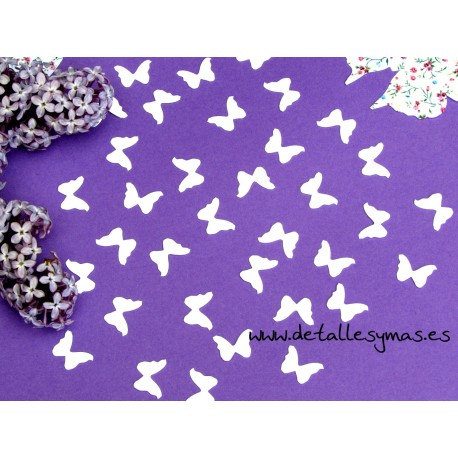 Confetti mariposas blancas
