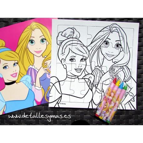 Puzzle para pintar Princesas