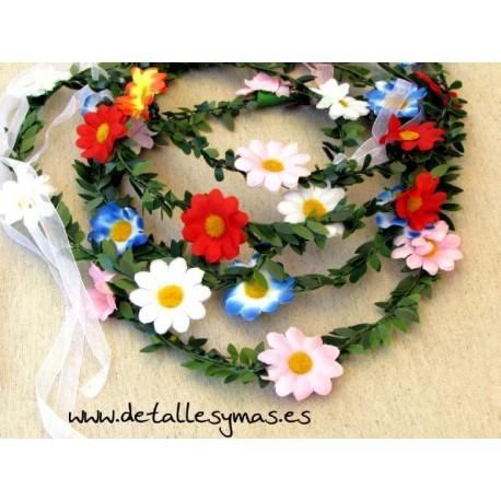 Corona de flores Margaritas