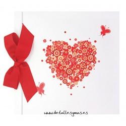 Libro de firmas Corazón de flores