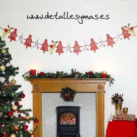 Guirnalda Merry Christmas Rudolf