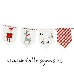 Banderines Esperando a Santa Claus