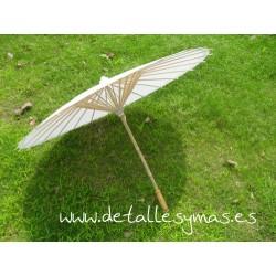 hermosa y encantadora tienda del reino unido hombre Parasol blanco de papel . 70 cms