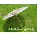Parasol blanco de papel . 70 cms