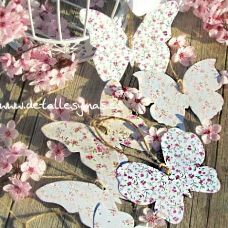 Mariposas de los deseos Florales