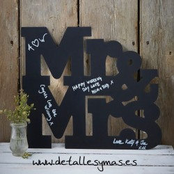 Pizarra Letras Mr & Mrs