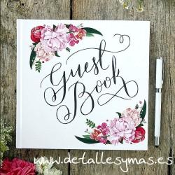 Libro de firmas Floral
