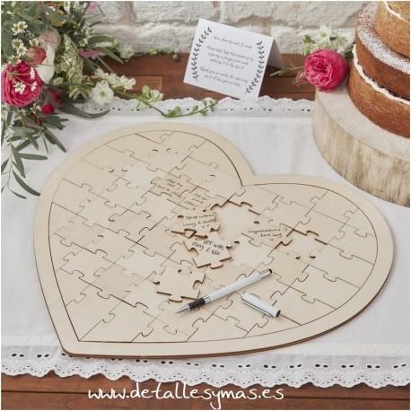 Corazón Puzzle de firmas