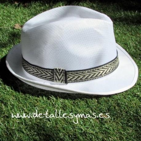 Sombrero ecoónico blánco