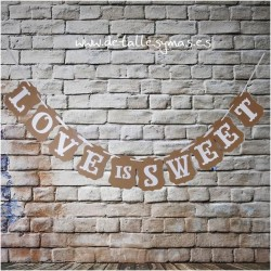 Banderines Love is Sweet Kraft