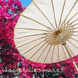 Parasol de papel Marfil . 70 cms
