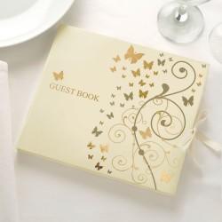 Libro de firmas Mariposas en Oro