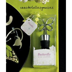Tapon de vino en forma de mariposa