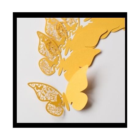 Mariposas Marcasitios .Pack 12 unidades