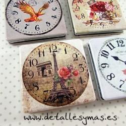 Espejo Relojes Vintage.En caja regalo
