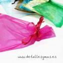 Bolsas de Organza pequeñas. 9 x 12 cms