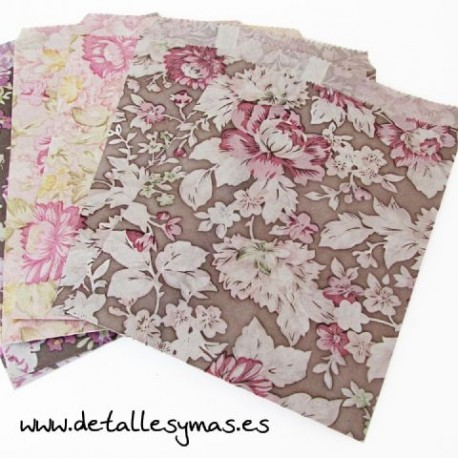 Bolsas de papel Flor Victoriana .Paquete 25
