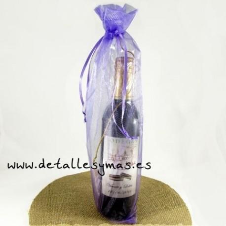 Bolsas de organza para botellas