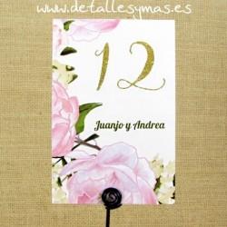 Números de mesas Roses