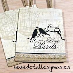 """Bolsas con asas """"Love Birds"""""""
