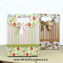 Cajas para pashminas flores .