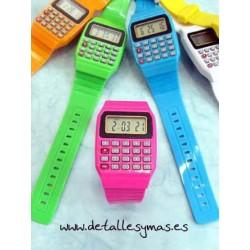 Reloj Calculadora Colores