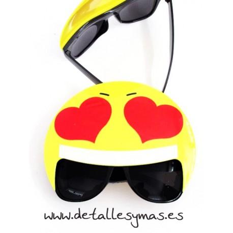 Gafas Emoticono Corazones