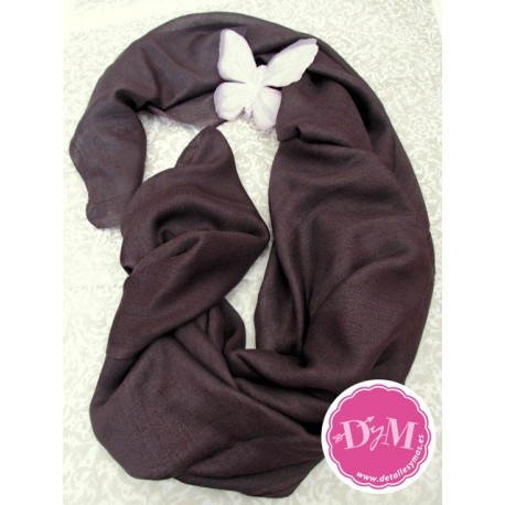 Pashmina Chocolate de Viscosa 100%
