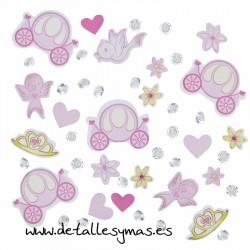 Conffeti de mesa y Cristales Princesa