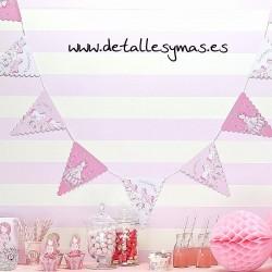 Banderines Princesa Rosa