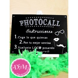 Cartel Pizarra Photocall