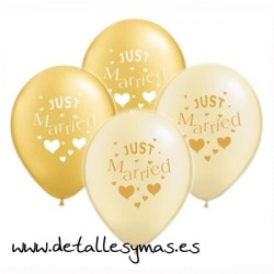 "Globos metálicos ""Just Married"""
