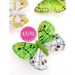 Mariposas Fantasía Verdes.Pack de 10 ud.