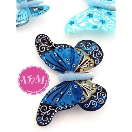 Mariposas Fantasía Azules . Pack 10 ud