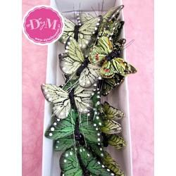 Mariposas de plumas 5 cms .Pack 25 ud.