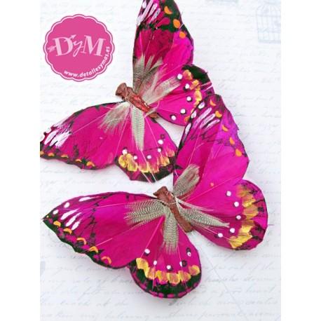 Mariposa de Pluma fucsia mod. Nairobi