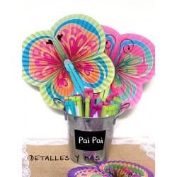 Pai Pai de Mariposa.Colores pastel